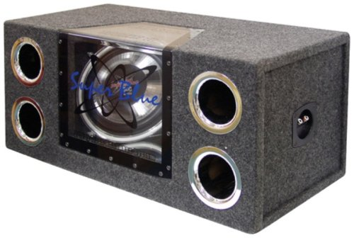 Pyramid BNPS122 12-Inch 1,200-Watt Dual Bandpass System with Neon Accent Lighting (12 Inch Bandpass System)