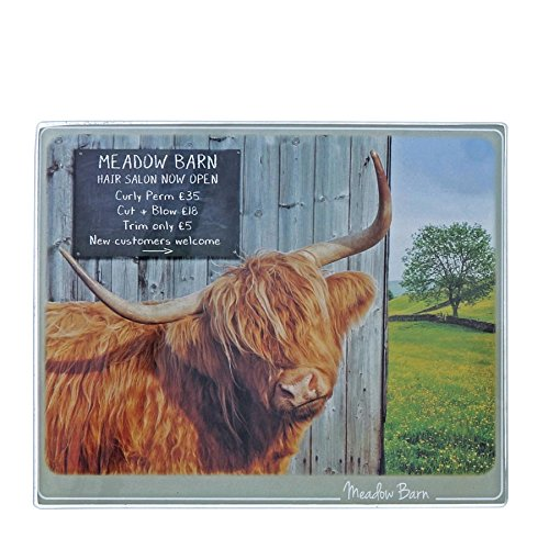 Kitchy and Co A29169 Meadow Barn Highland Cow Trivet -