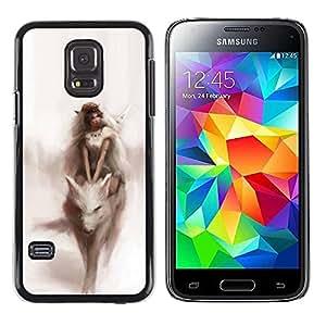 rígido protector delgado Shell Prima Delgada Casa Carcasa Funda Case Bandera Cover Armor para Samsung Galaxy S5 Mini, SM-G800, NOT S5 REGULAR! / Watercolor Fairytale Dream Woman/ STRONG