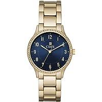 Chaps CHP3047 Reloj Extensible Análogo para Mujer, color Oro, 36 mm