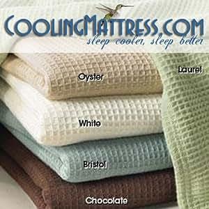 NASA Temperature Regulating Cotton Blanket Oyster King - WHITE SALE