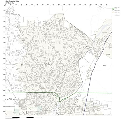 Rio Rancho Zip Code Map.Amazon Com Zip Code Wall Map Of Rio Rancho Nm Zip Code Map