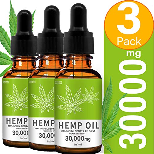 Hemp Oil for Pain, HOPESO Hemp Oil for Sleeping Anxiety & Stress Pain Relief 30000mg – 3 Pack