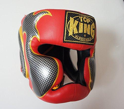 トップキング TOP KING キックボクシング ヘッドギア タトゥ 赤銀 Lサイズ B00RB6GLWW