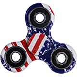SenseValue  Fidget Toy Hand Spinner Camouflage, Stress Reducer Relieve Anxiety and Camo (Flag Color)