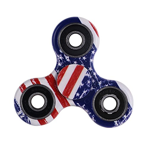 Balai Fidget Toy Hand Spinner Camouflage, Stress Reducer Relieve Anxiety and Boredom Camo (Flag Color)