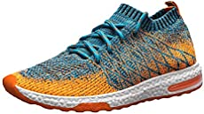 FORUU Woven Mesh Sports Shoes Breathable Men s Shoes Lace-Up Casual Shoes 54fcdebe4