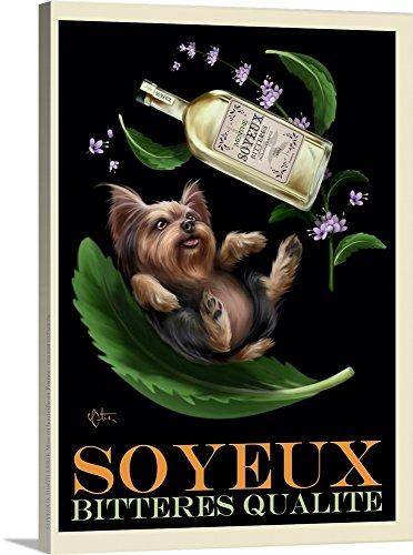 - Chad Otis Premium Thick-Wrap Canvas Wall Art Print entitled Soyeux Bitteres Qualite Retro Advertising Poster 18