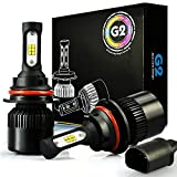 99 to 05 f250 headlights - JDM ASTAR G2 8000 Lumens Extremely Bright CSP Chips 9007 All-in-One LED Headlight Bulbs Conversion Kit, Xenon White