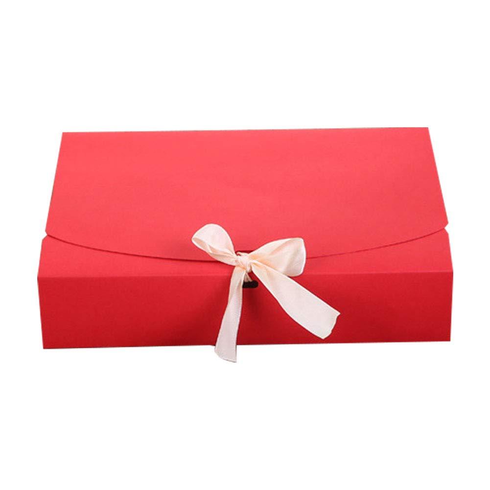 JUNGEN Boîte d'emballage Kraft papier Coffret cadeau Boîte à Gâteau gâteau Wrapper Porte-gâteau la maison de bricolage de boulangerie 1PCS 24 * 19.5 * 7cm (Blanc)