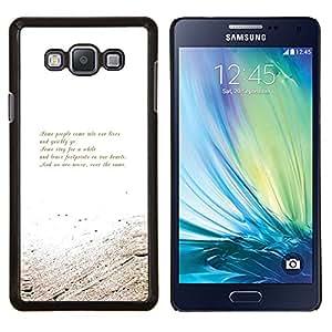 TECHCASE---Cubierta de la caja de protección para la piel dura ** Samsung Galaxy A7 ( A7000 ) ** --Oro Blanco Mensaje Poema motivación