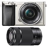 Sony Alpha a6000 Mirrorless Camera w/16-50mm& 55-210mm f/4.5-6.3 Lens (Silver)
