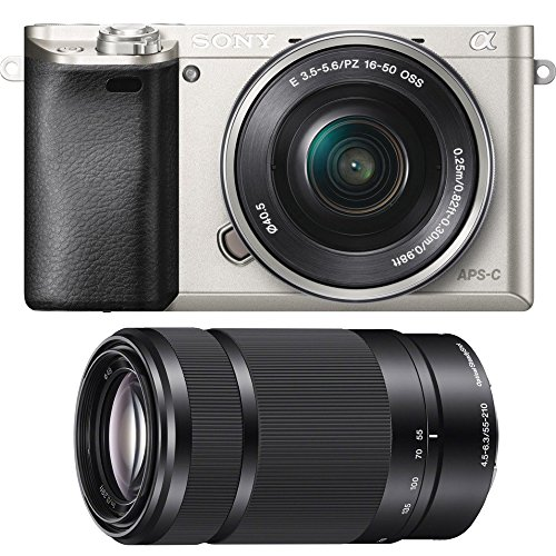 Sony Alpha a6000 Mirrorless Camera w/ 16-50mm& 55-210mm f/4.5-6.3 Lens (Silver)