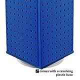 New Retails Solid Blue 4 Sided Pegboard Counter Display 9''W x 21''H x 9''D