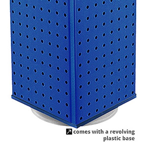 New Retails Solid Blue 4 Sided Pegboard Counter Display 9''W x 21''H x 9''D by Pegboard Counter Display