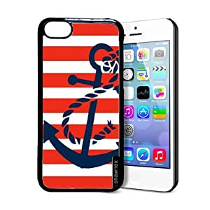 fashion case Springink Red Nautical Stripes And Anchor iphone 6 plus Case - Thin Shell Plastic Protective Case iphone 6 plus Case