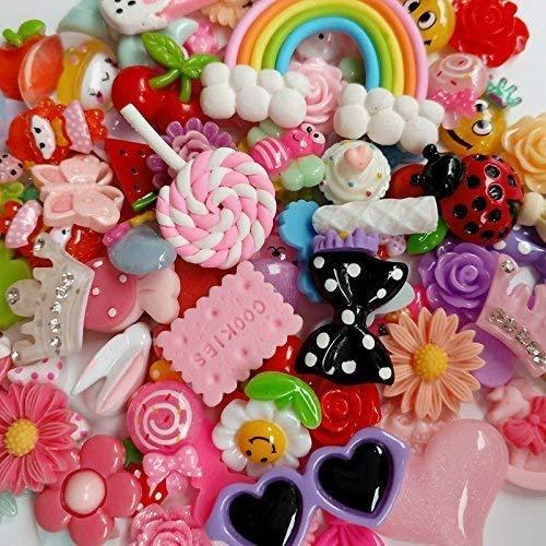 in resina sacco di bottoni a fondo piatto assortiti varie fantasie Chenkou Craft 50 pz
