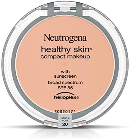 Neutrogena Healthy Skin Compact Makeup Foundation, Broad Spectrum Spf 55, Natural Ivory 20, .35 Oz.