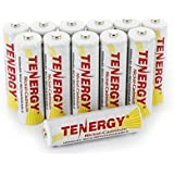 Tenergy AA Rechargeable Battery NiCd 1000mAh 1.2V Battery Pack for Solar Lights, Garden Lights, Remotes, Mice, 12-Pack