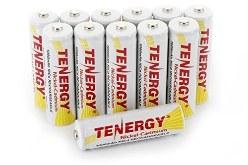 Combo: 12 Tenergy AA NiCd Rechargeable Batteries for Solar/Garden (Intermatic and Malibu) Lights