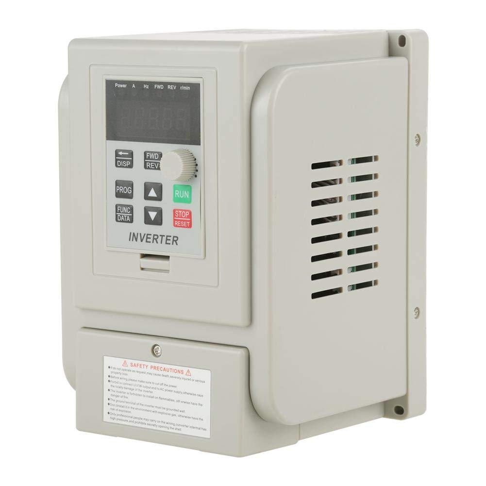 VFD 220V, Single-Phase Variable Frequency Drive,Low Noise Electromagnetic Interference,for 3-Phase 1.5KW AC Motor by Thincol (Image #1)