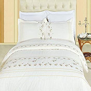 Zahra 300 Thread Count Reversible Flower Printed 100/% Cotton Duvet Cover Sets