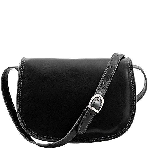 Tuscany Leather - Isabella - Bolso de señora en piel Rojo - TL9031/4 Negro