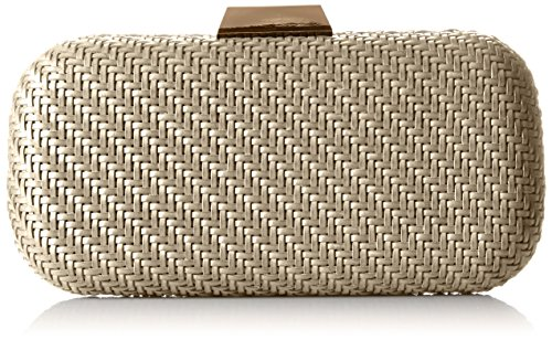 la-regale-faux-leather-woven-minaudiere-clutch-grey-one-size