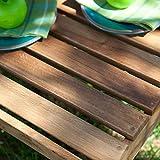Hampton Deluxe Outdoor Wood Side Table - Oak