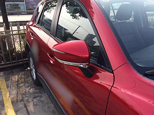 Para CX-5 CX5 2015 2016 ABS cromo puerta lateral espejo retrovisor de coche de rayas de parte inferior 2 piezas