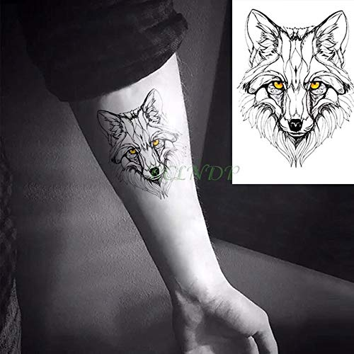 5pcs Impermeable Etiqueta engomada del Tatuaje del Lobo Animal ...