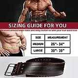 Weight Lifting Belt Genuine Leather Lifting Belt