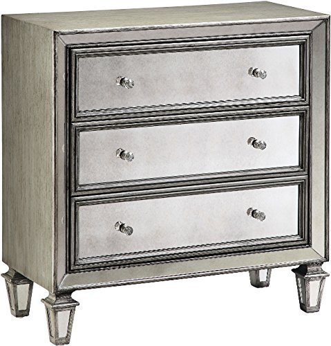 Price comparison product image Stein World Furniture Lana Accent Chest,  Silvery Gray / Mirror