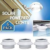 6 Pack Deal - Outdoor Solar Gutter LED Lights
