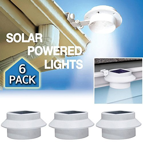 6 Pack Deal - Outdoor Solar Gutter LED Lights by YINGHAO (Image #1)
