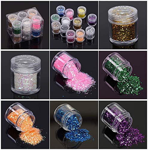 UV Epoxy Resin Crystal Clear Transparent Starter Kit 24 Molds 17 Bezels &  Pigments & Glitters & Embellishments & Tools & Lamp for Pendants Charms