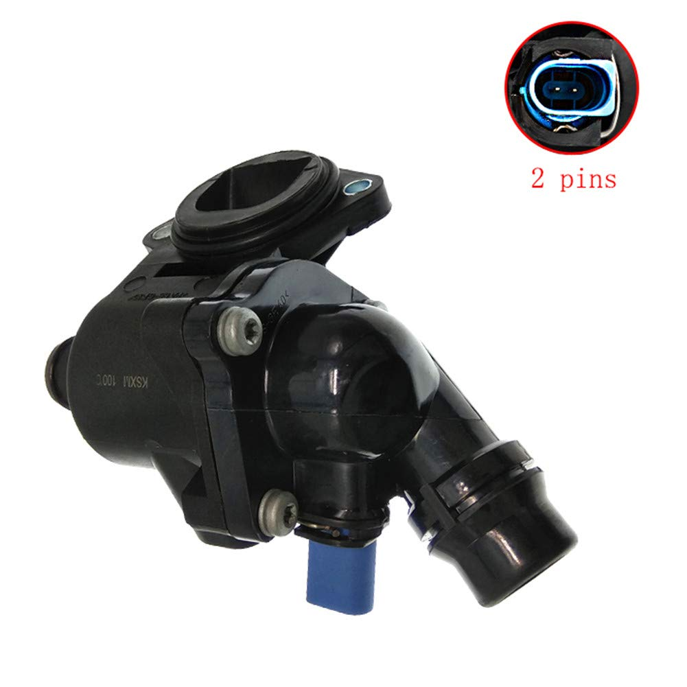 Car Auto Engine Coolant Thermostat Housing with Sensor Assembly 06B121111K for Audi A4 Quattro 1.8L 2002 2003 2004 2005 2006 Car Accessories 06B 121 111K (US Warehouse)