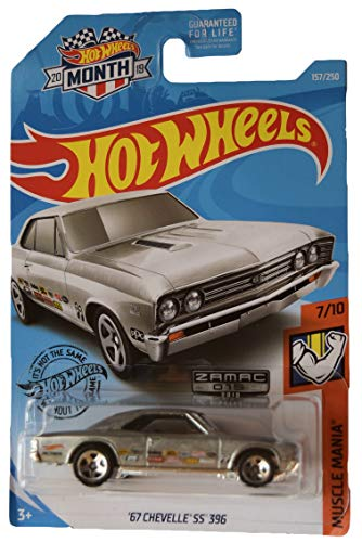 Hot Wheels Muscle Mania 7/10, Zamac '67 Chevelle SS 396 157/250 [2019 Month Card]