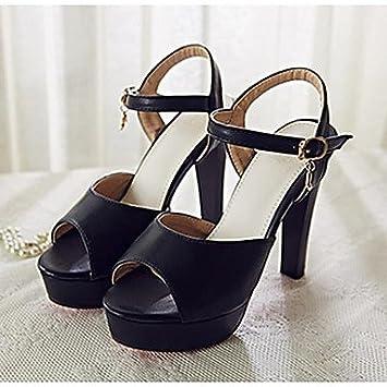 LvYuan-ggx Femme Chaussures à Talons Confort Polyuréthane Printemps Automne Décontracté Confort Noir Rouge Plat , black , us7.5 / eu38 / uk5.5 / cn38