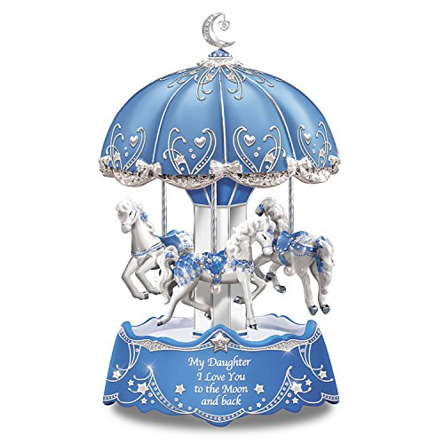 Bradford Exchange Carousel Music Box for Daughter with Lights and Rotation ()