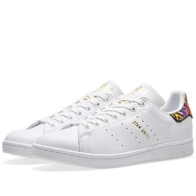 adidas Originals Stan Smith White & Gold Toe Cap Sneakers | ASOS