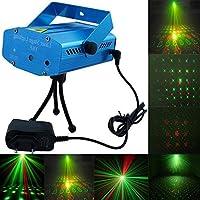 Alexvyan Aluminum Multi Pattern 6 Design Sound Activated Laser Light Disco Party Club, DJ Decoration Birthday (Blue, Medium Size)