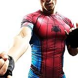 Cool Superhero Spiderman Compression Shirt Dri-Fit Running Workouts Tee L