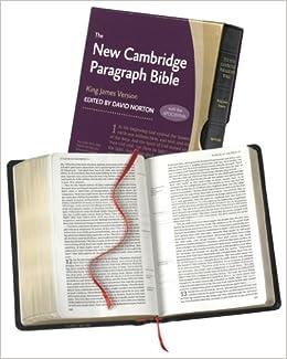 New Cambridge Paragraph Bible with Apocrypha, Black Calfskin