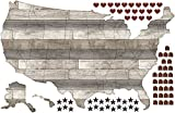 interior wood paneling Wall Pops DWPK2178 Country Living US Map Decal