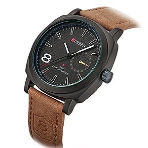 Curren Luxury Brand Men Quartz Luminous Watch Fashion Sport Leather Strap Wristwatches wih box