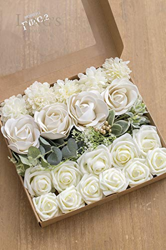 Ling's moment Artificial Flowers Combo for DIY Wedding Bouquets Centerpieces Arrangements Party Baby Shower Home Decorations]()