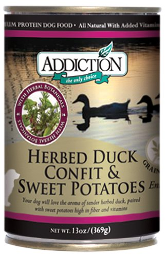 Addiction Pet Foods Herbed Duck Confit and Sweet Potatoes Entree Dog Food, 13-Ounce, My Pet Supplies