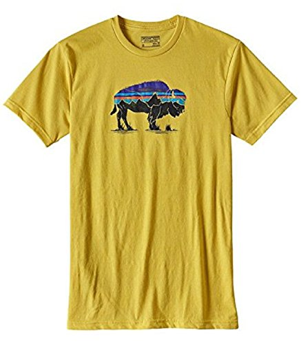 patagonia-mens-fitz-roy-bison-cotton-poly-t-shirt-medium-chromatic-yellow