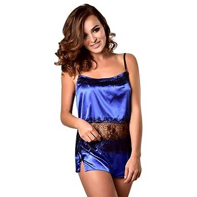 Lurcardo Camisón Sexy Mujer Pijama de Encaje Sexy Traje de ...